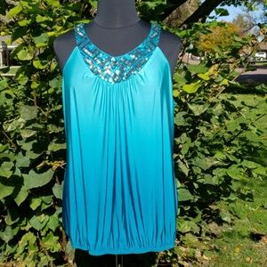 Maurice's plus silky party halter style tank